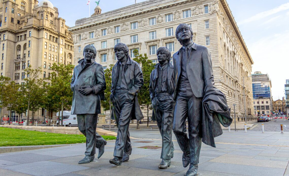 statues of the Beatles