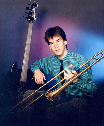 Jon Dimond with trombone